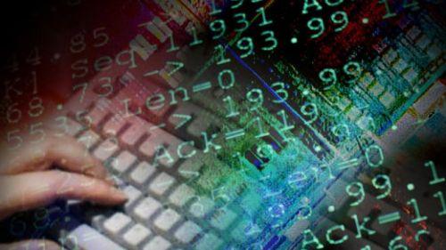 COMPUTER KEYBOARD HAND